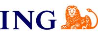 Het logo van de ING bank