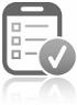 Checklist op een mobiel
