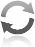 Twee pijlen die samen een cirkel vormen, symbool voor wisselen