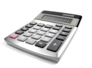 Plaatje van een rekenmachine.